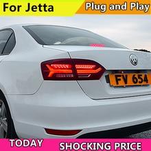 цена на doxa 4PCS Car Styling for VW Jetta Taillights 2011-2014 for Jetta LED Tail Lamp+Turn Signal+Brake+Reverse LED light