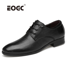 Купить с кэшбэком High Quality Men Shoes Genuine Leather Oxford Shoes Men Lace Formal Business Dress Wedding Shoes for Man  Dropshipping