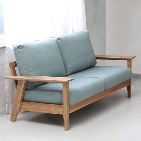 Us 1471 99 8 Off Living Room Sofas Couches For Furniture Home Solid Wood Oak Sofa Bed Minimalist Recliner Lounge Chair New In