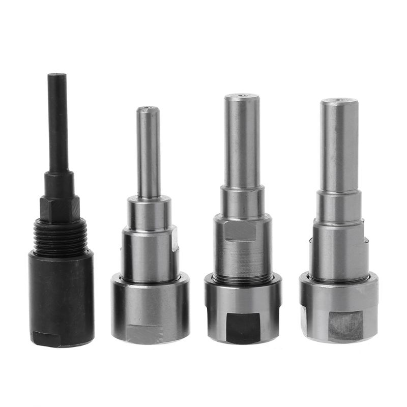 1//4/'/' Shank Router Bits Collet Extension Rod 90mm Kit Set For Engraving Machine