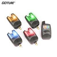 Goture Fishing Bite Alarm 8 LED Wireless Receiver Carp Fishing Electronic Fish Strike Rod Tip Light