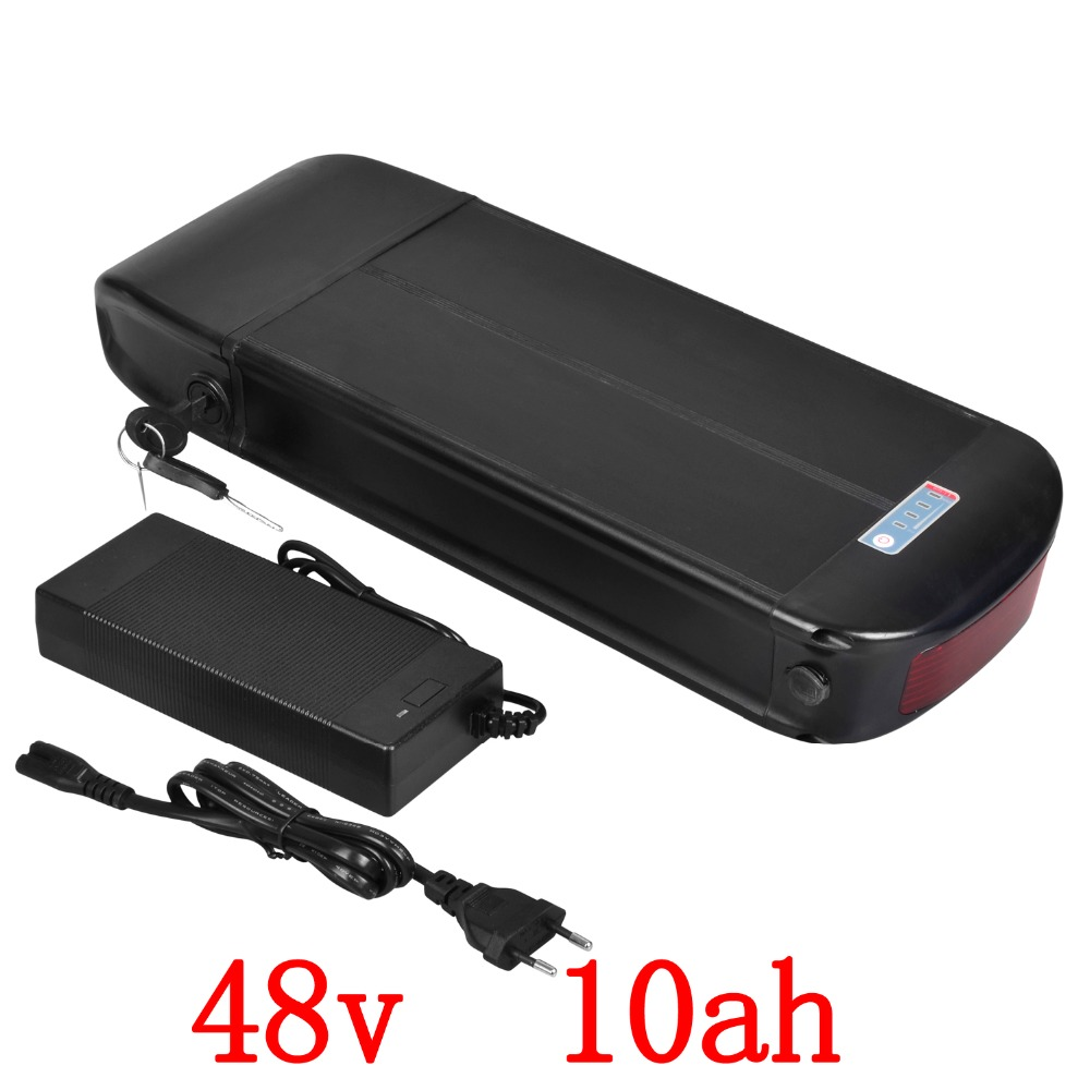 Bike Battery 48V 10Ah 700W Lithium Battery 48v with 54.6V 2A Charger,15A BMS Electric Bike Scooter Battery 48v Free Shipping free shipping 48v 15ah battery pack lithium ion motor bike electric 48v scooters with 30a bms 2a charger