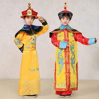Children Qing Dynasty Emperor Costume Girl Queen Dance Dress Kids Chinese Ming Prince Cheongsam Kangxi Imperial Robe Costume 18