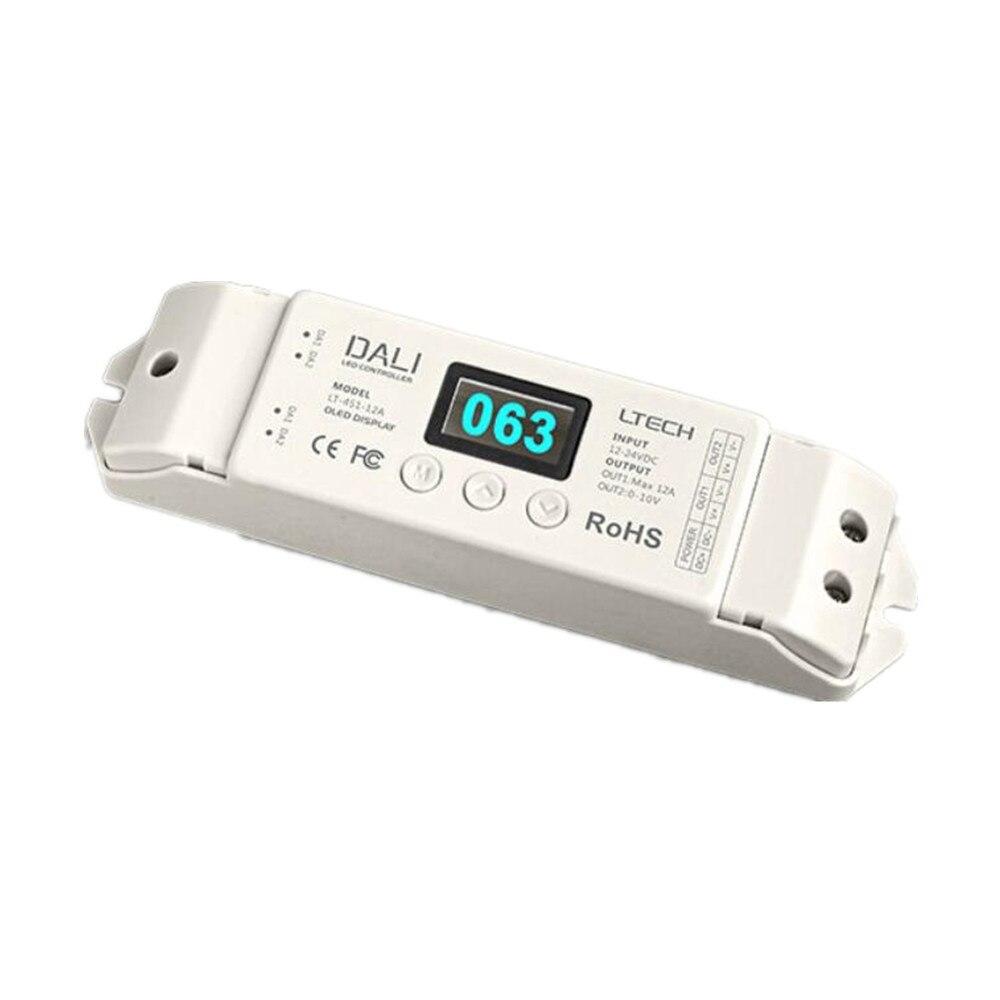 Ltech LT-451-12A DALI variateur pour LED DC 12-24 V 12A * 1CH canal sortie PWM Dimmable pilote DALI Bus LED pilote livraison gratuite