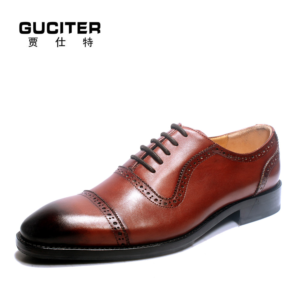 Goodyear manual custom made men's shoes Oxford pointed private business men leather shoes by handmade shoes high-end dress shoes полироль пластика goodyear атлантическая свежесть матовый аэрозоль 400 мл