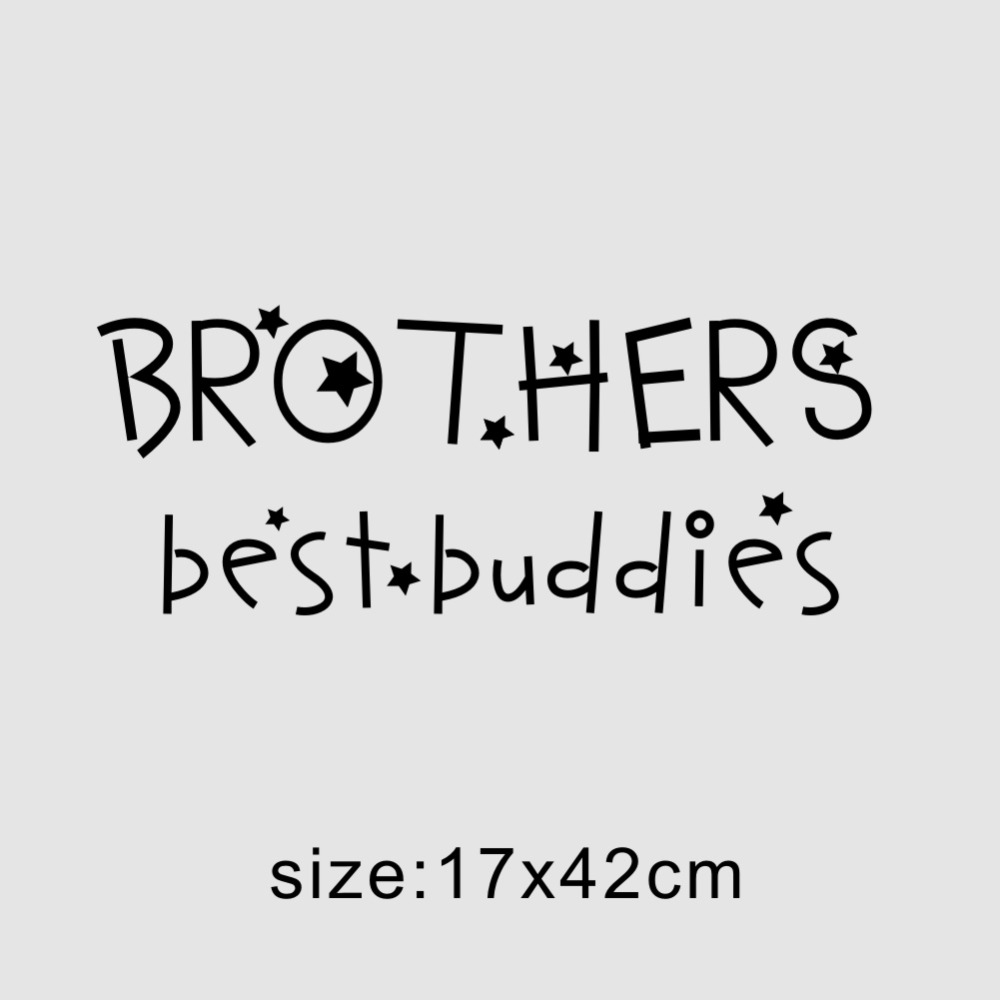 Brothers Best Buddies mur citation chambre enfants famille Wall Decals