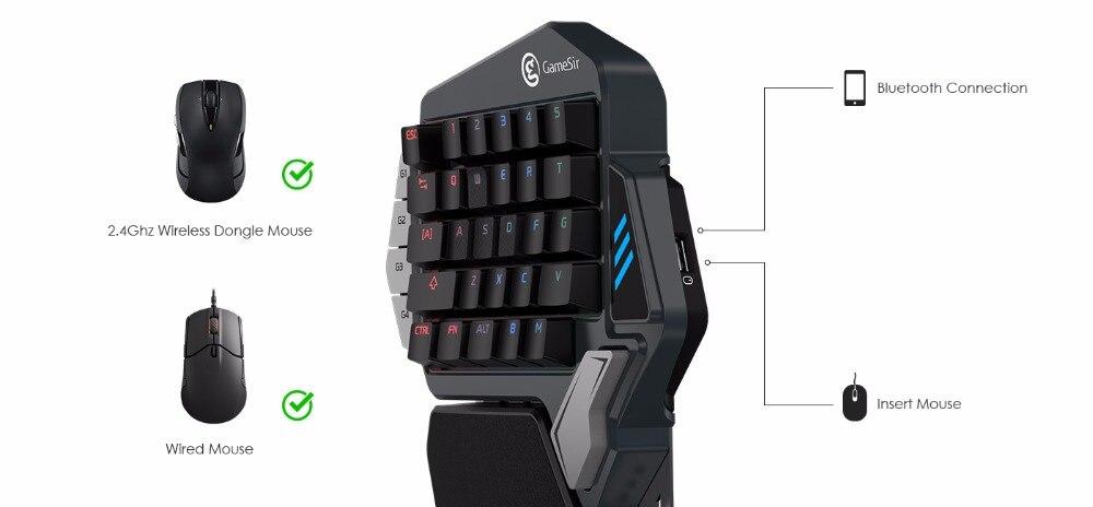 Gamesir z1 vermelhoazul teclado mecânico do jogo