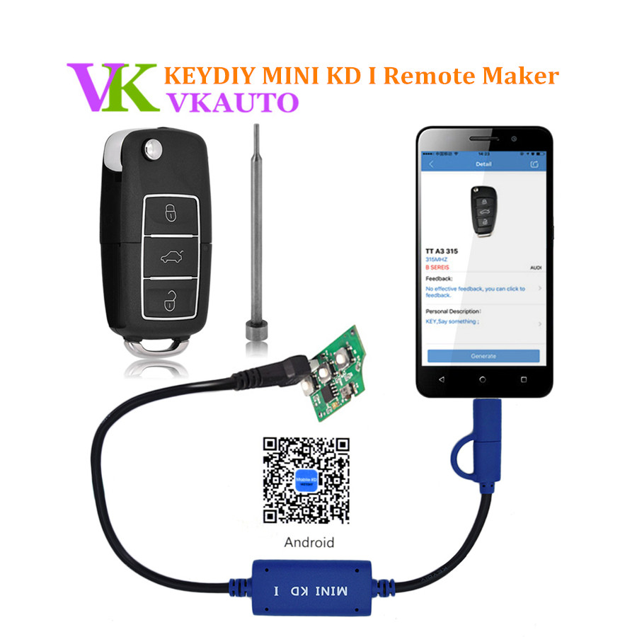 2018 New Keydiy Mini KD Mobile Key Remote Maker Generator for Android and IOS System