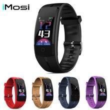 Imosi Smart bracelet QS100 Fitness tracker Color screen smart wristband heart rate monitor Blood pressure Measure PK QS 90