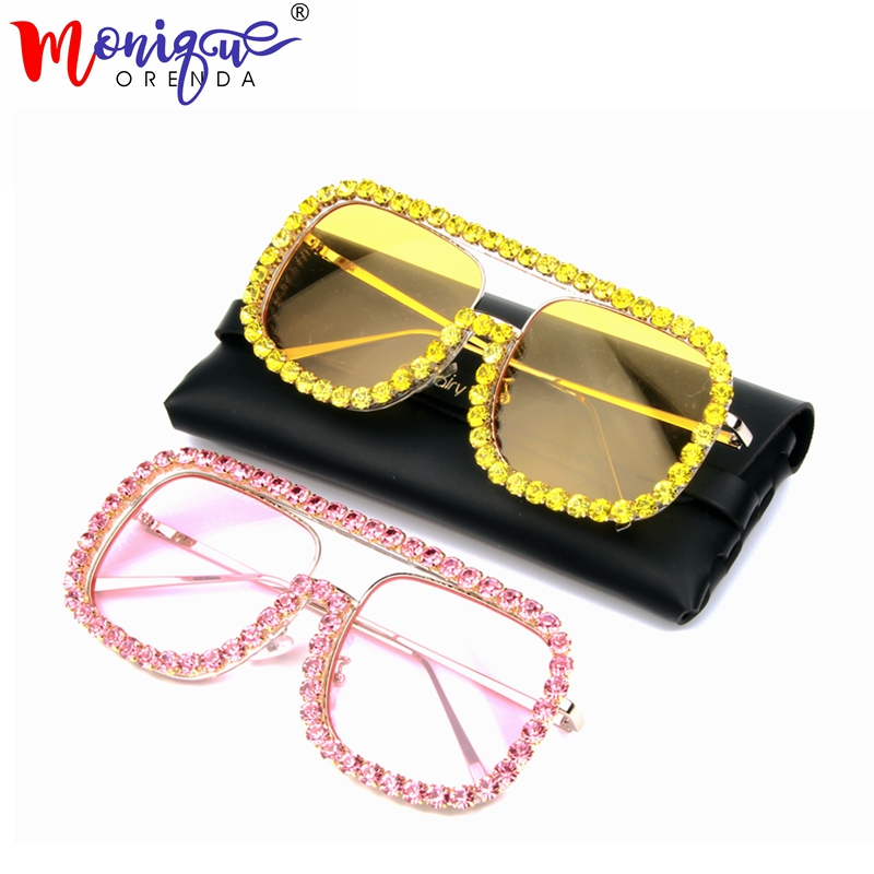 Sunglasses Men Oversized Female Goggles Vintage Retro Brand Designer Luxury Square Women