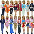Randomly Pick 10 pcs/lot Doll Clothing Sets Fashionable Clothes Casual Dress Suits For Barbie Doll Dress Best Gift Baby Toys