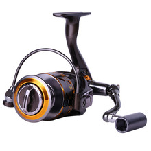 Sougayilang Metal Material 5.2:1 Gear Ratio 12+1BB Fishing Reel DK1000/2000/3000/4000 Spinning Sea Fishing Reel Carp De Pesca