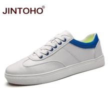 JINTOHO Top Brand Skateboarding Shoes Sneakers Men Comfortable Leisure  Leather White Shoes Sports 2018 Spring New 937118c7a52c