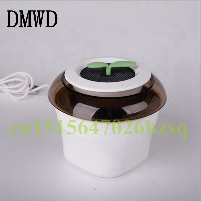 DMWD 5-12V Vehicle Mini Portable Purifier Formaldehyde and PM2.5 removal Negative ion air purifier 3 Colors Oxygen bar tcl air purifier tkj200f household living room removing haze formaldehyde pm2 5 secondhand smoke anion oxygen bar free shipping