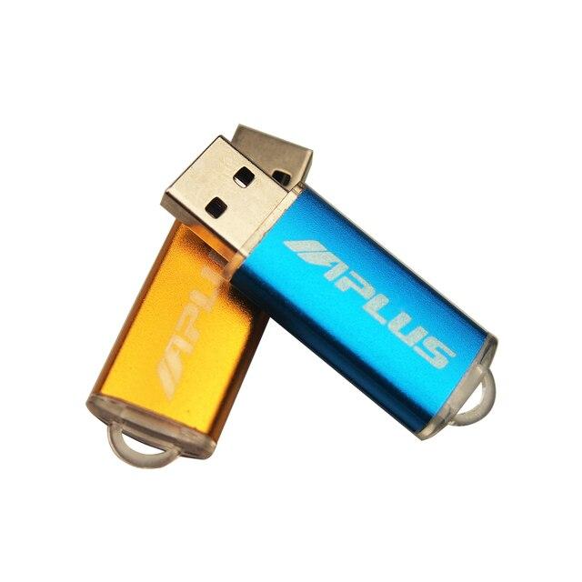 De alta velocidad USB Flash de Metal logotipo personalizado Pendrive 4GB 8GB 16GB 32GB 64GB USB 2,0 boda Cle USB Pen Drive (más de 10 Uds LOGO gratis)