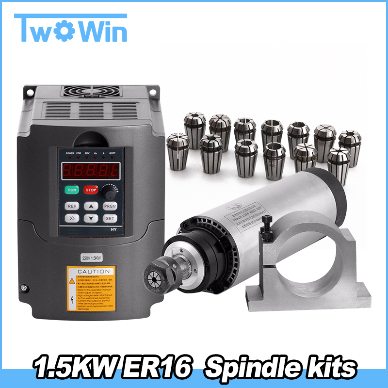 CNC Router Spindle Motor Kit 1 5KW air Spindle Tool Milling Machine 220V 1 5KW Interver