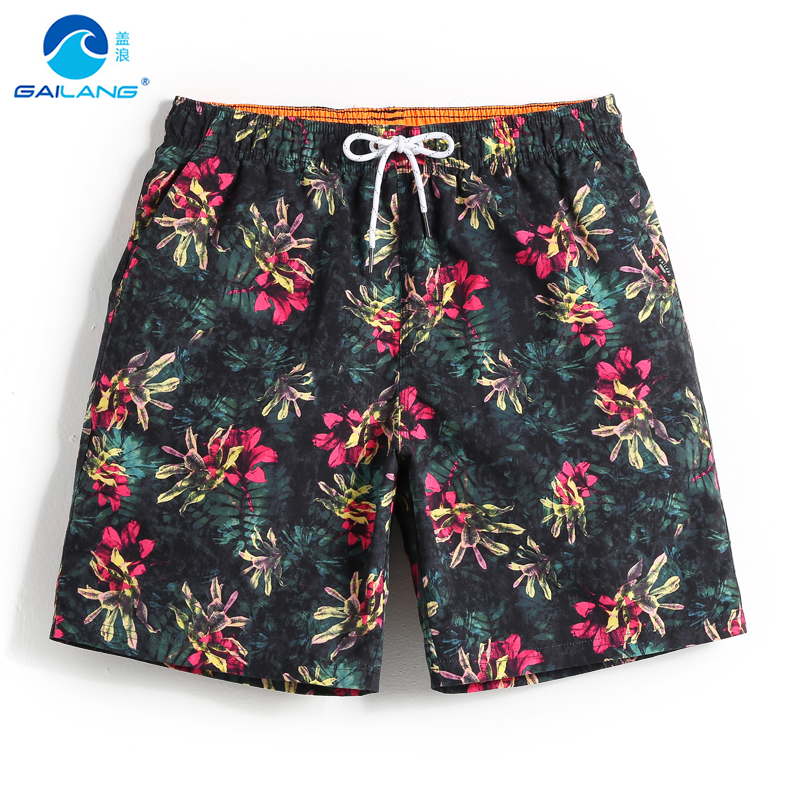 Men's bathing suit   board     shorts   swimsuit quick dry surfing hawaiian bermudas joggers liner plavky swimwear beach   shorts   mesh