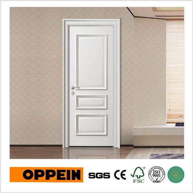 Oppein White Pre Hung Door Design Interior Flush Wooden Door