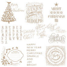 Christmas Tree Holiday cheers Word Metal Cutting Dies Hot Foil Plates for Scrapbooking DIY Paper Cards Craft Decor New 2019