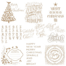 "Christmas Tree ""Holiday cheers"" Word Metal Cutting Dies Hot Foil Plates for Scrapbooking DIY Paper Cards Craft Decor New 2019(China)"