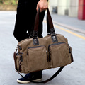 fashion new Korean men's casual shoulder bag convenient  travel large canvas handbag genuine men travel bags free shipping Q2