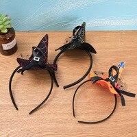 Mini witch hat headband cobweb dots veil cap Easter halloween fancy dress costume accessory Party headdress scary lin4398