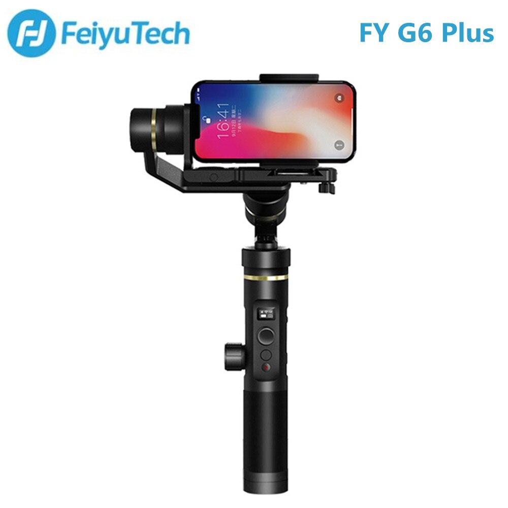 FY FEIYUTECH G6 Plus stabilisateur de cardan à main 3 axes pour caméra d'action/appareils photo numériques/Smartphones