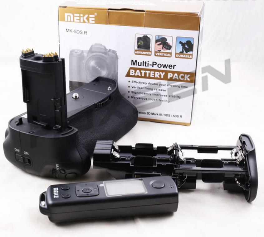 meike MK-5DSR Vertical Battery Grip hand pack holder 2.4G Wireless remote control For canon 5Ds 5DSR 5D III camera as BG-E11 meike vertical battery pack grip for nikon d5300 d3300 2 en el14 dual charger