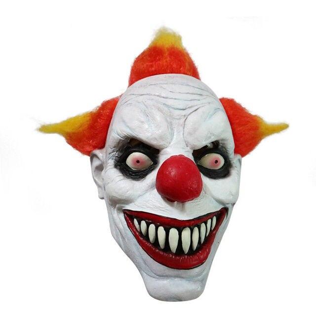Funny mal adulto de pelo Pennywise asesino Joker payaso traje de máscara  fantasma fiesta de Carnaval 925007ec2cc7