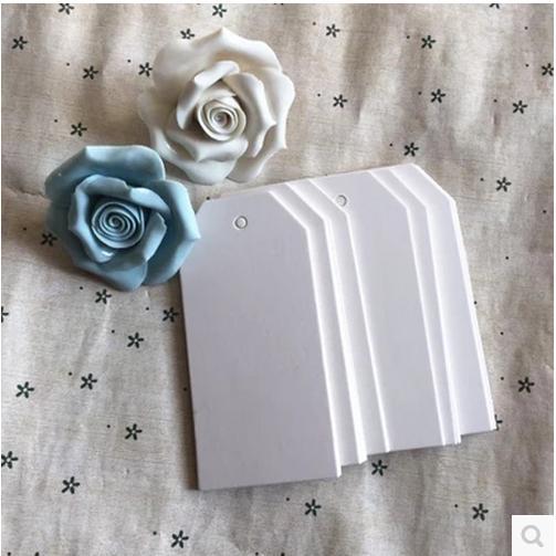 9.5*4.5CM Hot Sale Trapezoidal Shape White Kraft Paper