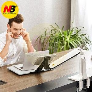 Image 2 - Suporte dobrável para laptop nb fb17, suporte para laptop de 11 17 polegadas, para laptop e notebook montagem da bandeja do teclado