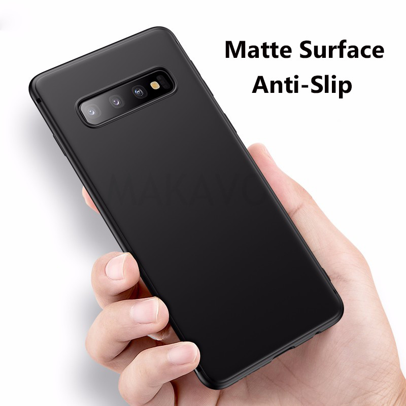 MAKAVO For Samsung Galaxy S10 Case Slim Matte Soft Cover Cases For Samsung S10 Plus S10e Phone Cases