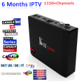 DVB-S2/T2 S912 KIII PRO Smart Tv Box Amlogic 64 bits Octa core 3 GB/16 GB WiFi BT4.0 UHD 4 K Android 6.0 TV BOX 6 Meses Europa IPTV