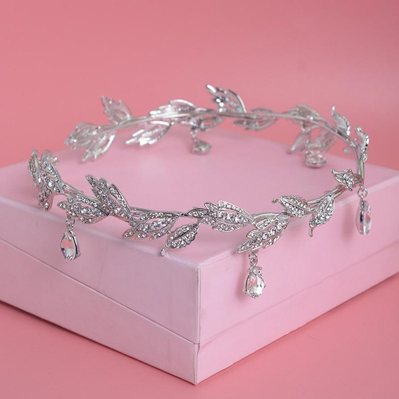 Mahkota kristal, Aksesori rambut pengantin, Berlian imitasi - Perhiasan fashion - Foto 2