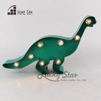 12inch Led Metal Marquee Dinosaur Light Sign Light Up Indoor Deration Boy'S Room Decor