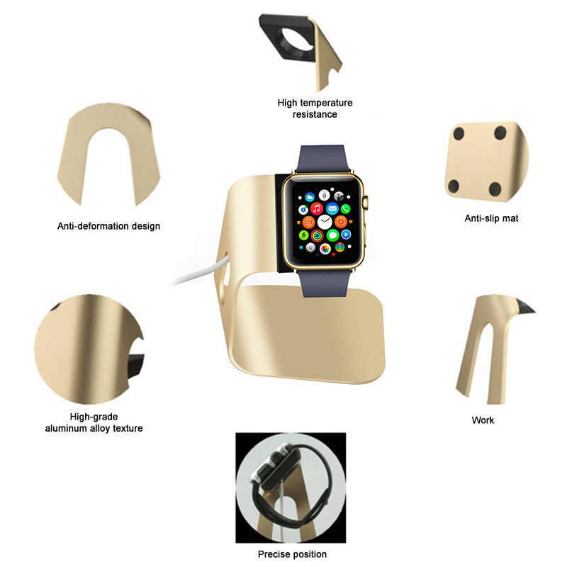 Smartwatch Pemegang Stand Universal Charger Dock Station untuk Apple Watch Aluminium Portable Pemegang Pengisian Dock untuk Aku Menonton 4 3 2