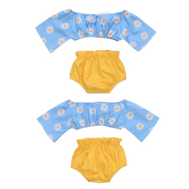 a9a4977e2e Summer Fashion Baby Girl Clothing Set Plug-In Explosion Models Children Tube  Top + Shorts Suit Newborn Clothes