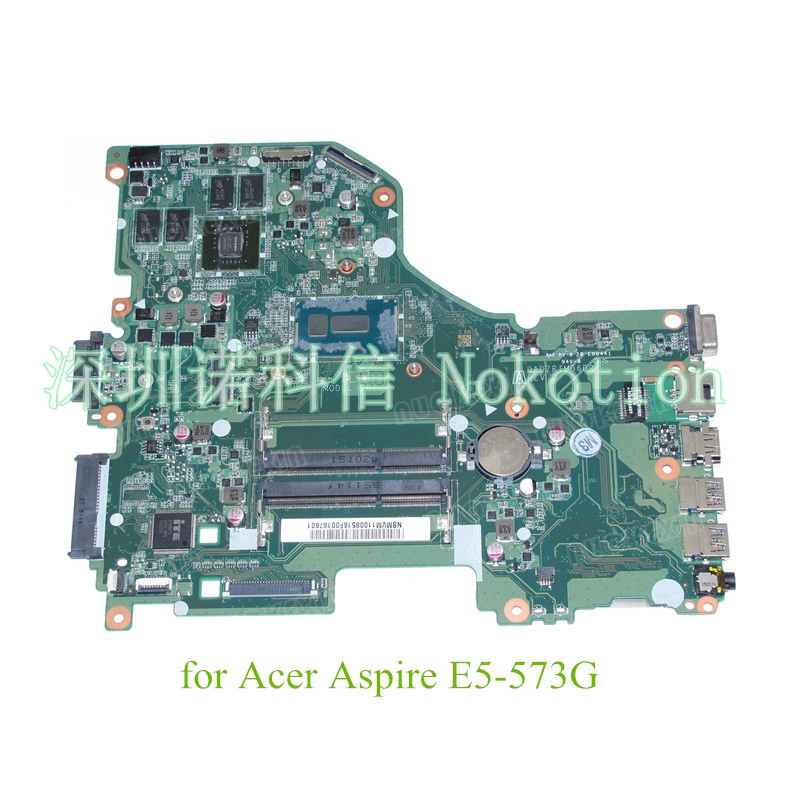 NOKOTION DA0ZRTMB6D0 REV D NBMVM11008 NB.MVM11.008 For acer aspire E5-573G laptop motherboard i7-5500U +GeForce 940M nokotion z5wae la b232p for acer aspire e5 521 laptop motherboard nbmlf11005 nb mlf11 005 ddr3