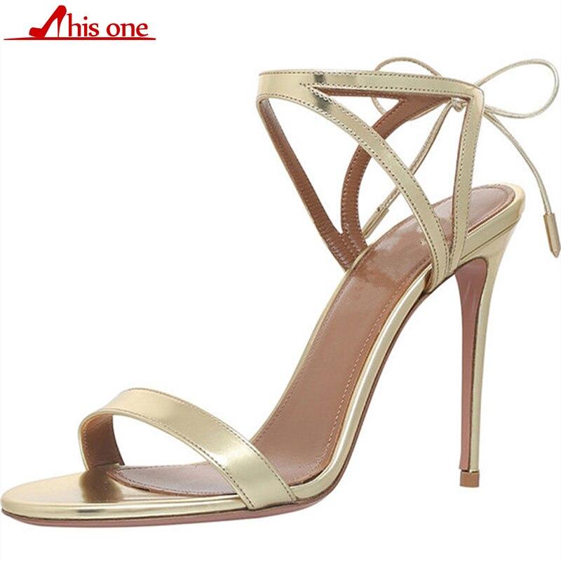 La D'été Femmes À Cuir Chaussures Talons Romaines Argent Mince Or Catwalk Sandales Bride Lanières Hauts Dames Cheville En qxZPwnXt