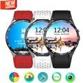 Top lemfo kw88 3g wifi gps smart watch android 5.1 os mtk6580 cpu 1.39 pulgadas de pantalla 2.0mp cámara smartwatch para apple moto huawei