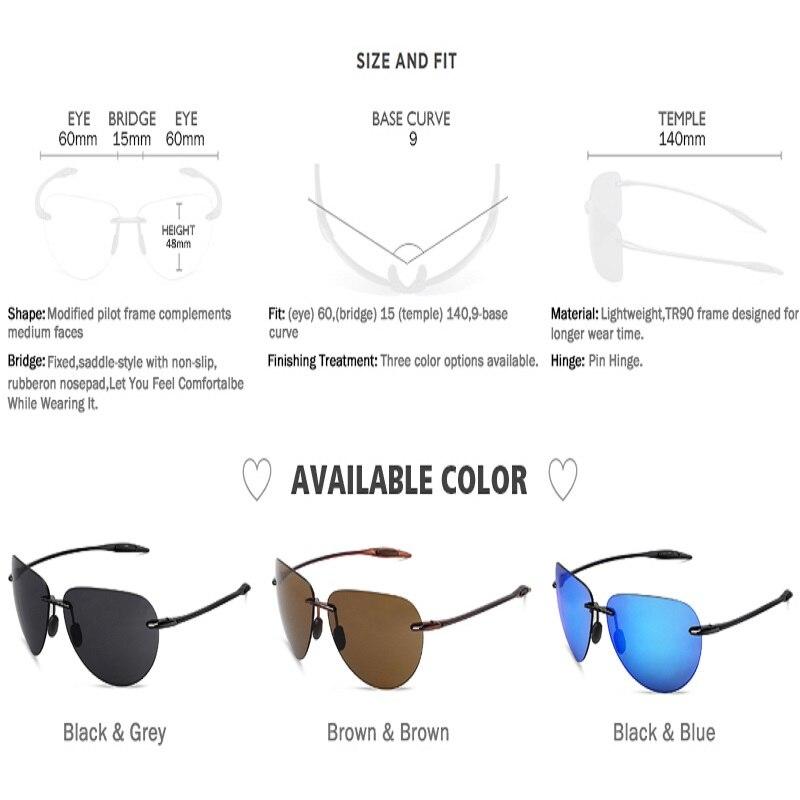 Image 2 - JULI Classic Sports Sunglasses Men Women Male Driving Golf Pilot Rimless Ultralight Frame Sun Glasses UV400 Gafas De Sol MJ8008-in Men's Sunglasses from Apparel Accessories