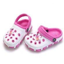 2016 сандалі дитячі сандалики хлопчики і дівчата отвір смола повсякденне взуття підліткові черевики пляжні фліп-черевики тапочки Plus Size24-35