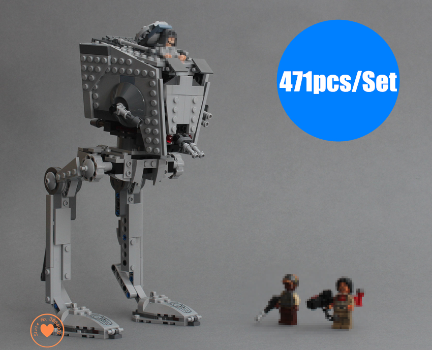 New Rogue One Imperial AT-ST Walker  fit legoings star wars figures fighter Building Block bricks 75153 gift kid boys Toy setNew Rogue One Imperial AT-ST Walker  fit legoings star wars figures fighter Building Block bricks 75153 gift kid boys Toy set