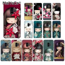 MaiYaCa модный kawaii японский Kokeshi кукла чехол для телефона samsung Galaxy S9 plus S7 edge S6 S10 Lite S10Plus S10E S8 plus(China)