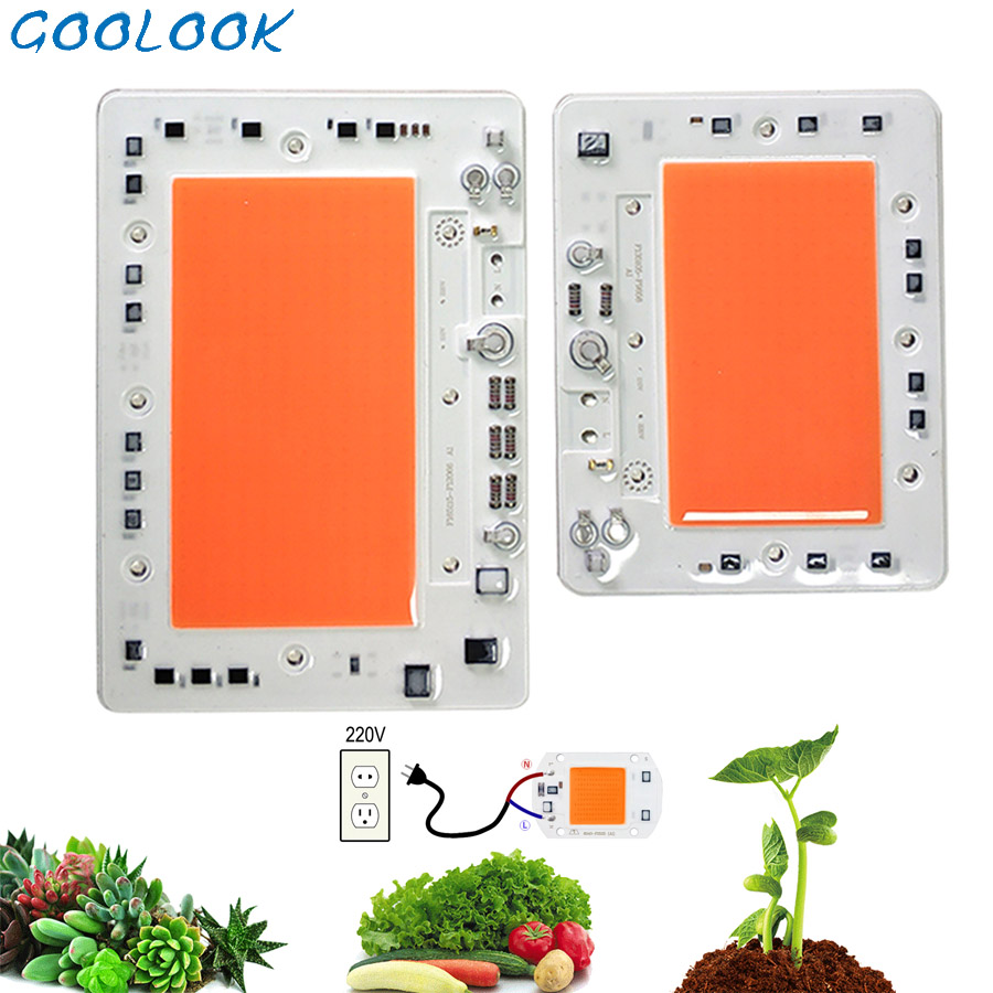 Full Spectrum LED Grow Light Chip 100W 150W -10W 50W For Indoor Plant Grow Light Chip Lamp Beads 220V Diode Fitolampy Phyto Lamp