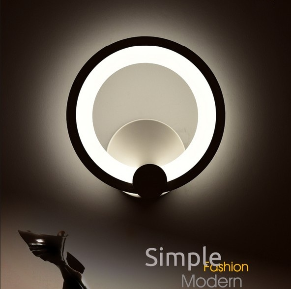 Simple Modern Wall Sconce Creative Acrylic LED Wall Light For Home Lighting Bedside Wall Lamp Integrated Lampe Murale Lampara replica aj wall lamp folding iron classic bedside wall light modern led sconce lighting e27