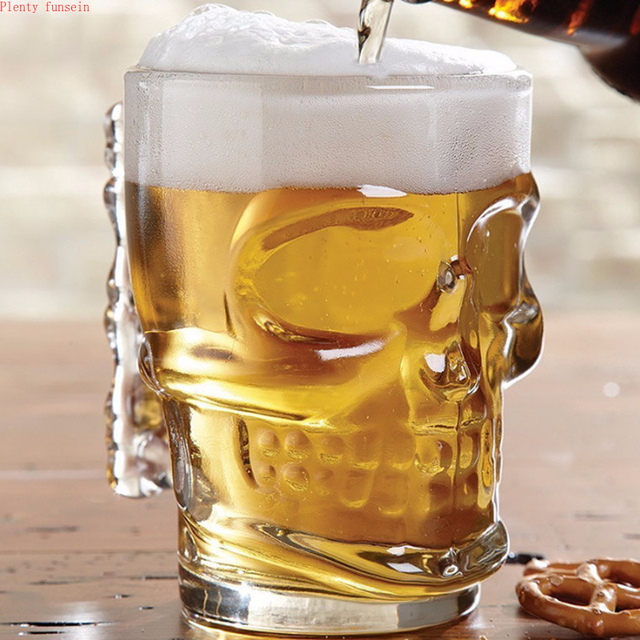 500ML SKULL FACE BEER CUP