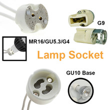 G4 10CM 15CM Ceramic Light Lamp Holder MR16 GU10 G9 Socket with Wire MR11 GU5.3 Halogen Connector Base LED Wholesale(China)