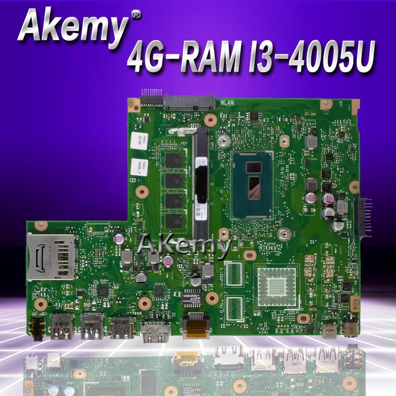 Akemy X540LA Laptop Motherboard For ASUS X540LJ X540L F540L X540 Test Original Mainboard  4G-RAM I3-4005U