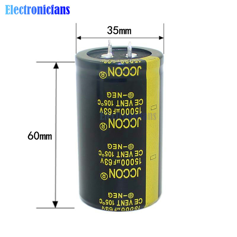 Aluminum Electrolytic Capacitor 63V 15000uF 36X60mm High Frequency Low ESR 63V15000uF 36*60mm Through Hole Capacitor